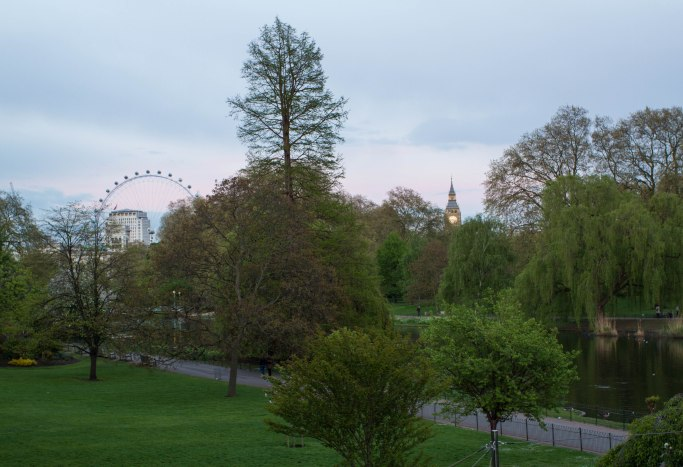 London Eye and Big Ben from St. James's Park