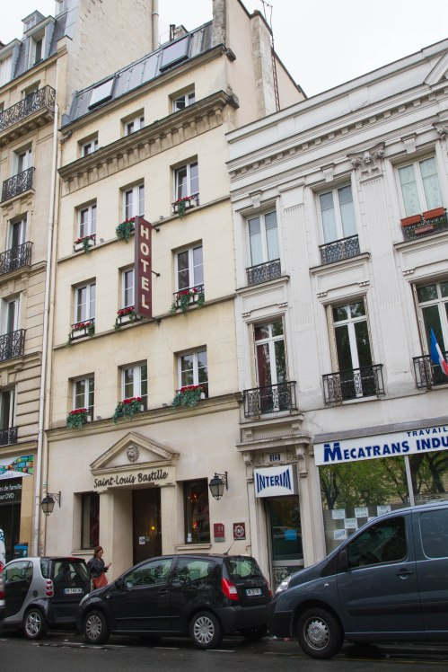 Sign Easily Missed When Walking Below It - Hotel Saint Louis Bastille