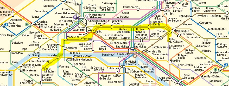 Route from Hotel St. Louis-Bastille in the 11th Arrondissement to La Tour Eiffel