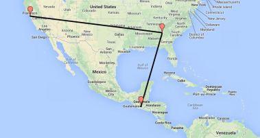 Flight to Guatemala