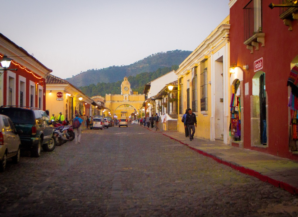 5a Av Norte and Arco de Santa Catalina, Antigua, Guatemala