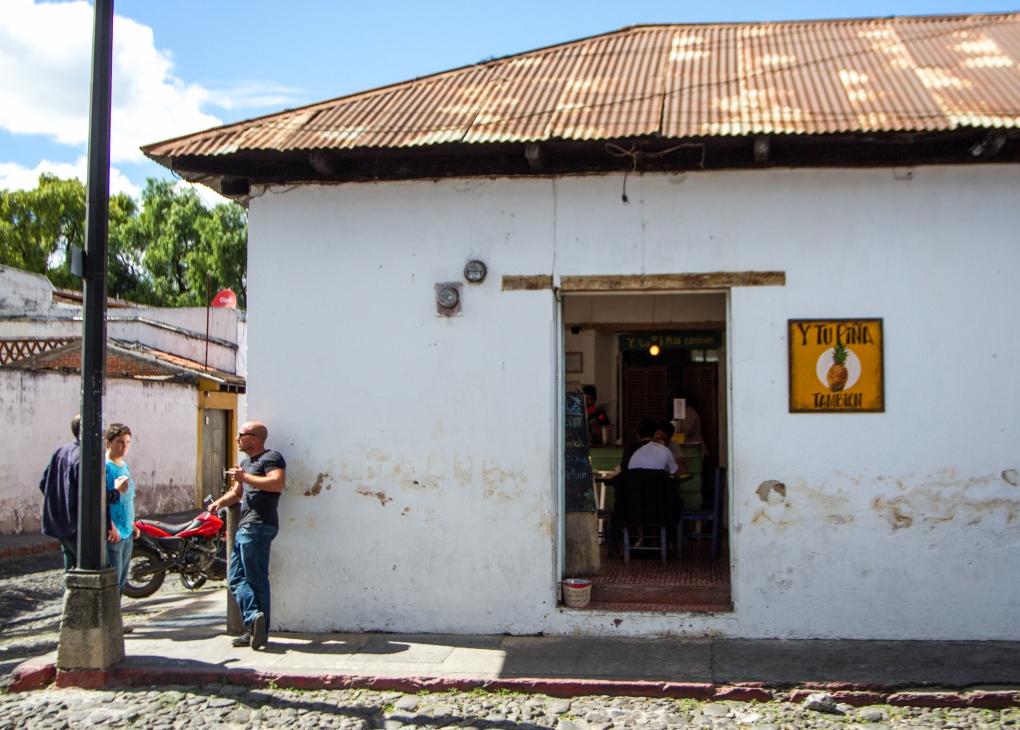 A juice bar in Antigua
