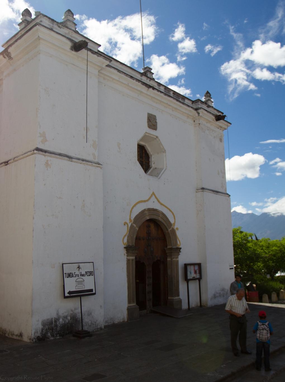 The back entrance to the San Francisco El Grande church in Antigua, Guatemala