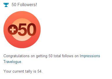 I've hit a milestone! 50 followers on WordPress!