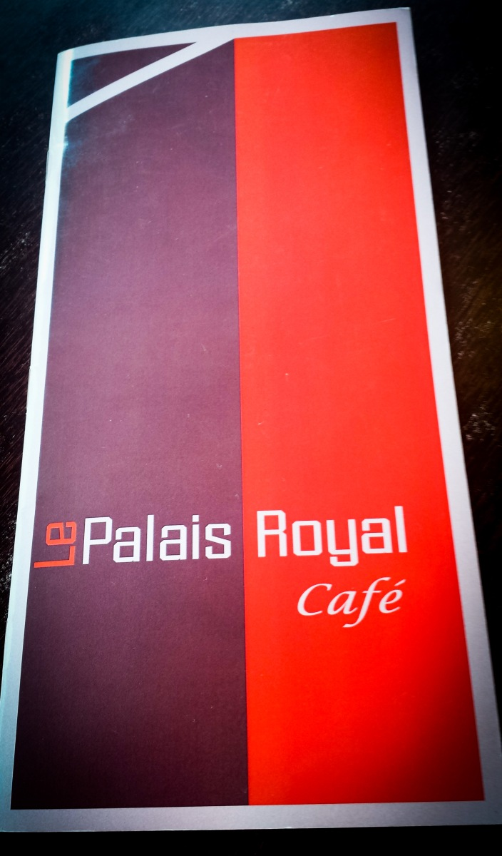 menu, Le Palais Royal Café