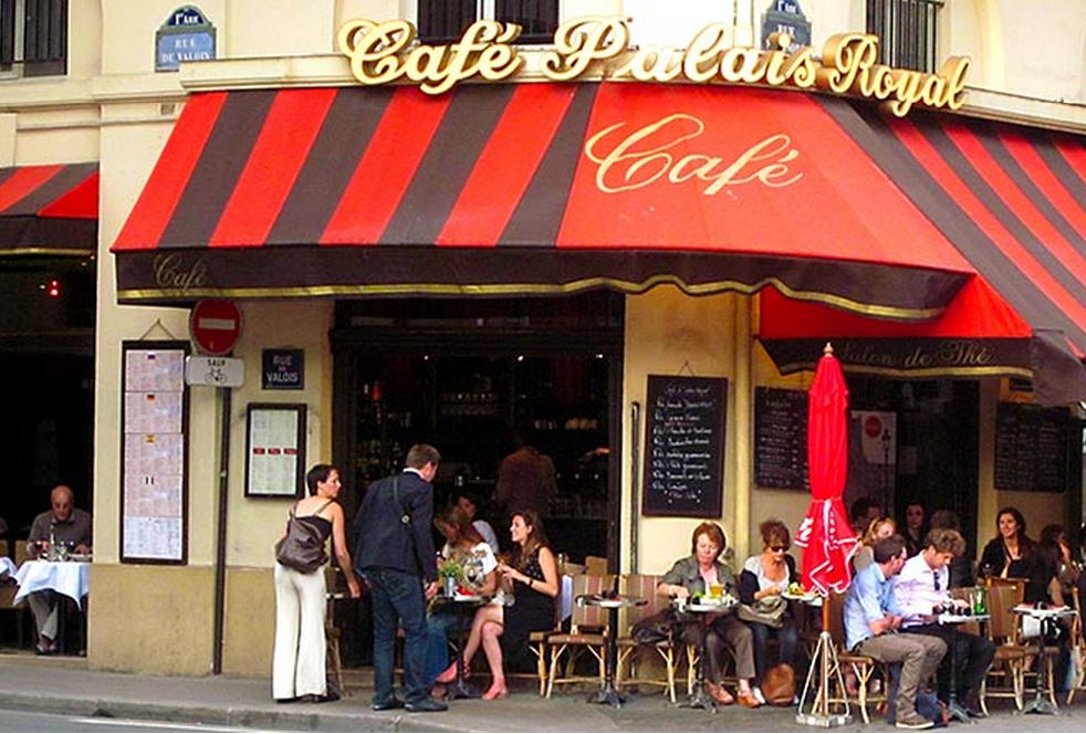 Cafe Palais Royal, near Musee du Louvre, Paris