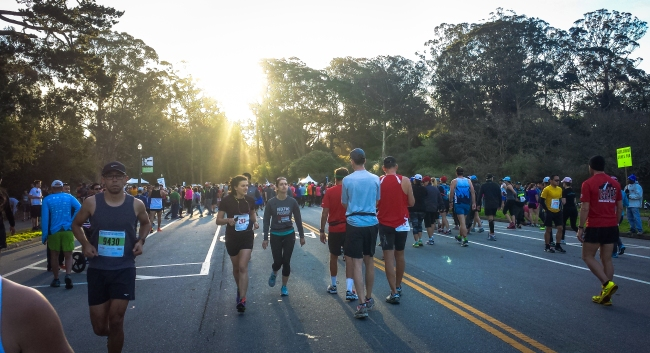 Here comes the sun! Beautiful day for a race in Golden Gate Park!